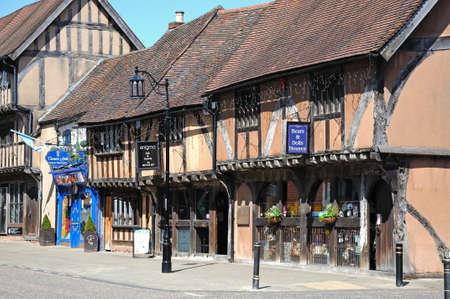 midlands: Old timber framed buildings along Spon Street, Coventry, West Midlands, England, UK, Western Europe.