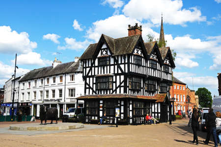 hereford: The High House in High Town Built in 1621, Hereford, Herefordshire, England, UK, Western Europe.