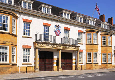 warwickshire: District Council building, Elizabeth House, Church Street, Stratford-Upon-Avon, Warwickshire, England, Western Europe.