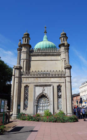 indo: End view of the Royal Pavilion, Brighton, West Sussex, England, UK, Western Europe.
