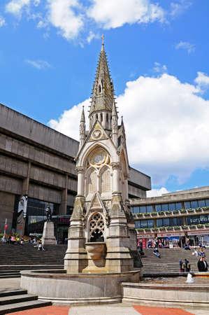 midlands: Chamberlain memorial in Chamberlain Square, Birmingham, West Midlands, England, UK, Western Europe.