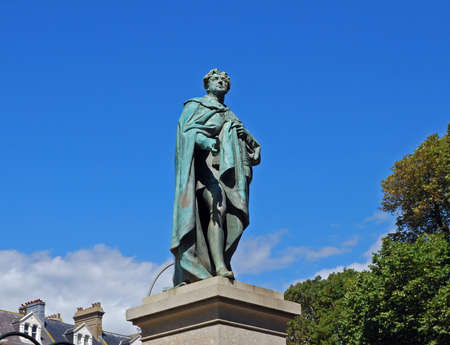 west sussex: Statue of George IV, Brighton, West Sussex, England, UK, Western Europe.