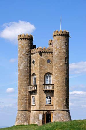 broadway tower: Broadway tower on Broadway Hill, near Broadway, Worcestershire, England, UK, Western Europe. Editorial