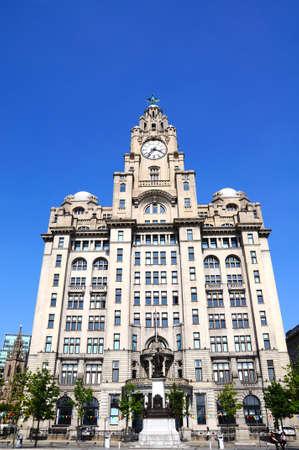 merseyside: The Royal Liver Building at Pier Head, Liverpool, Merseyside, England, UK, Western Europe.
