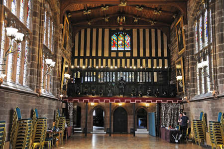 great hall: The Great Hall in St Marys Guildhall, Coventry, West Midlands, England, UK, Western Europe.