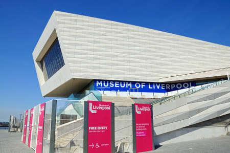 merseyside: The Museum of Liverpool building at Pier Head, Liverpool, Merseyside, England, UK, Western Europe. Editorial