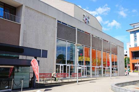 midlands: Belgrade Theatre in Belgrade Square, Coventry, West Midlands, England, UK, Western Europe.