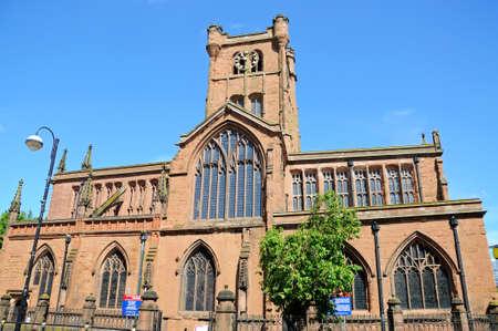 midlands: Parish Church of St John the Baptist, Coventry, West Midlands, England, UK, Western Europe.