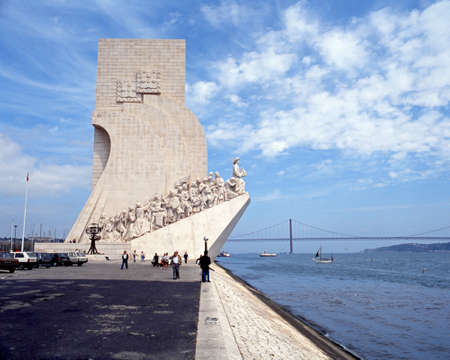 the tagus: Monument to the Discoveries along the Tagus River, Lisbon, Portugal, Europe