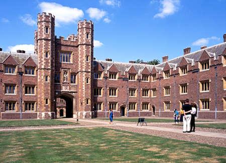 cambridgeshire: St Johns College showing the Great Gate and courtyard, Cambridge; Cambridgeshire, England, UK, Western Europe.