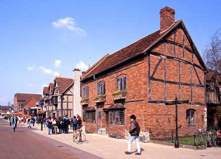 birthplace: Shakespeares birthplace along Henley Street, Stratford-upon-Avon, Warwickshire, England, UK, Western Europe.