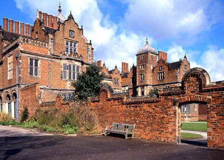 jacobean: View of Aston hall and garden entrance, Aston, Birmingham, West Midlands, England, UK, Western Europe. Editorial