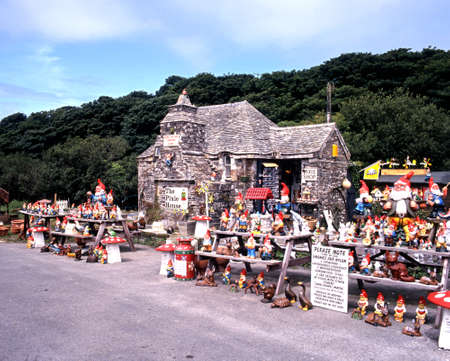 western europe: View of the Pixie House gift shop, Tintagel, Cornwall, England, UK, Western Europe.