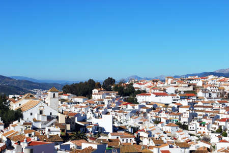 rooftops: View over the town rooftops, Colmenar, Andalusia, Spain, Western Europe.