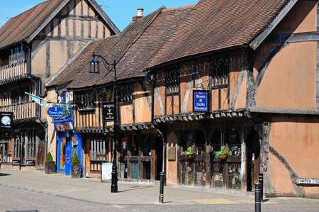 framed: Old timber framed buildings along Spon Street, Coventry, West Midlands, England, UK, Western Europe.