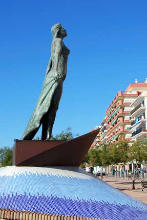 mediterranea: Mediterranea statuette along the promenade, Fuengirola, Malaga Province, Andalusia, Spain, Western Europe. Editorial