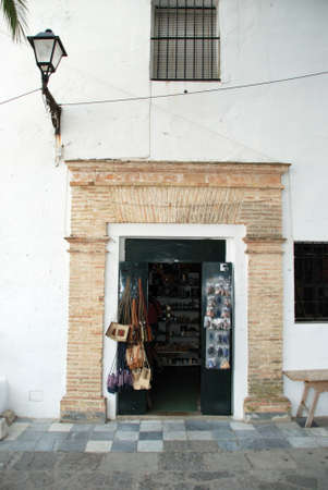 retailing: Gift shop in the town centre, Vejer de la Frontera, Costa de la Luz, Cadiz Province, Andalusia, Spain, Western Europe. Editorial