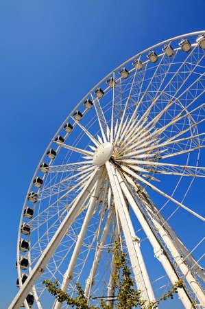 keel: View of the Echo wheel of Liverpool at Keel Wharf, Liverpool, Merseyside, England, UK, Western Europe. Editorial