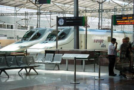 malaga: AVE high speed trains Zambrano railway station, Malaga, Malaga Province, Andalucia, Spain, Western Europe. Editorial