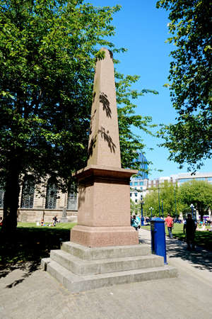 philips: View of the war memorial in the grounds of St Philips Cathedral with the Cathedral to the rear, Birmingham, England, UK, Western Europe.