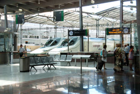 ave: AVE high speed trains Zambrano railway station, Malaga, Malaga Province, Andalucia, Spain, Western Europe. Editorial