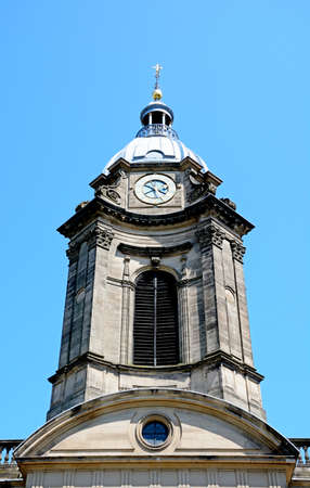 philips: View of St Philips Cathedral clock and bell tower, Birmingham, England, UK, Western Europe.