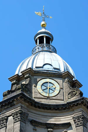 philips: View of St Philips Cathedral clock tower, Birmingham, England, UK, Western Europe.