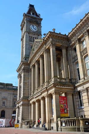 View of the Museum and Art Gallery with its clock tower, Birmingham, England, UK, Western Europe.