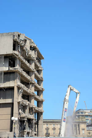 decommissioning: Demolition of the old Birmingham Central Library, Birmingham, England, UK, Western Europe.