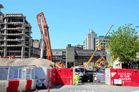 decommissioning: Demolition site for the old Birmingham Central Library, Birmingham, England, UK, Western Europe. Editorial