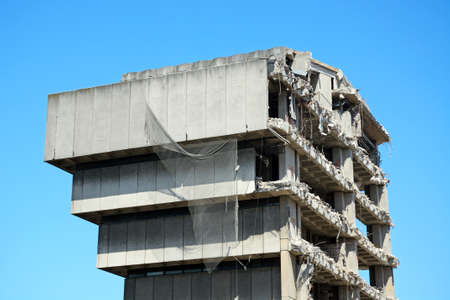 deconstruction: Demolition of the old Birmingham Central Library, Birmingham, England, UK, Western Europe.