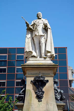 Statue of Edward VII in Centenary Square, Birmingham, England, UK, Western Europe.