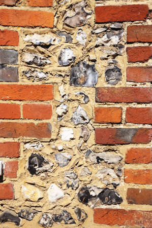 flint: Example of the brick and flint architecture common to this area, Turville, Buckinghamshire, England, UK, Western Europe.