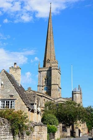 john the baptist: View of St John the Baptist church, Burford, Oxfordshire, England, UK, Western Europe.