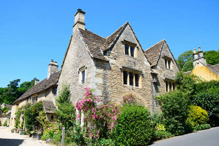 cotswold: Cotswold stone buildings in the village centre, Castle Combe, Wiltshire, England, UK, Western Europe. Editorial