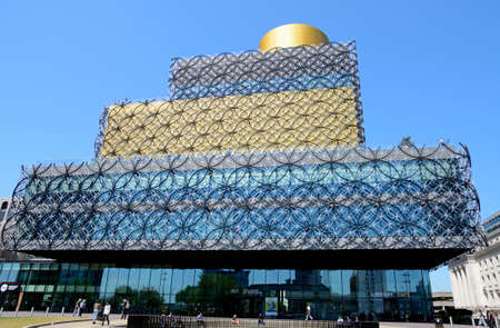 centenary: Front view of the Library of Birmingham in Centenary Square, Birmingham, England, UK, Western Europe. Editorial