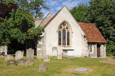 St Mary the Virgin Church and churchyard, Turville, Buckinghamshire, England, UK, Western Europe.