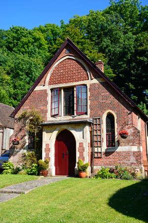 Converted chapel along the main village street, Milton Abbas, Dorset, England, UK, Western Europe. Editorial