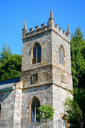 St James church tower, Milton Abbas, Dorset, England, UK, Western Europe.