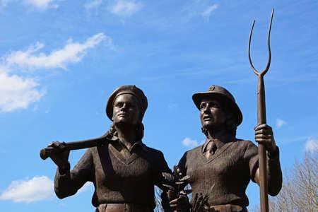 Womens Land Army and Womens Timber Corps memorial, National Memorial Arboretum, Alrewas, Staffordshire, England, UK, Western Europe.