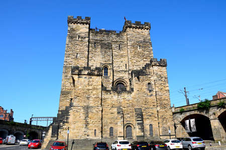 View of the Medieval castle keep, Newcastle upon Tyne, Tyne and Wear, England, UK, Western Europe.