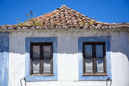Traditional Portuguese building in the old town, Monchique, Algarve, Portugal, Europe.