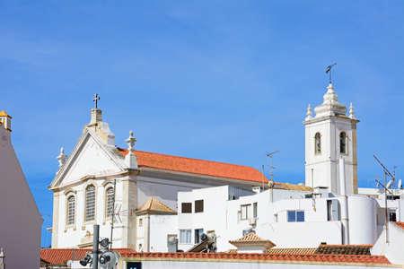 View of the Mother church (Igreja Matriz), Albufeira, Algarve, Portugal, Europe.