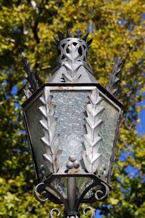 Ornate streetlight in the Alameda del Tajo park, Ronda, Malaga Province, Andalucia, Spain, Europe. Stok Fotoğraf
