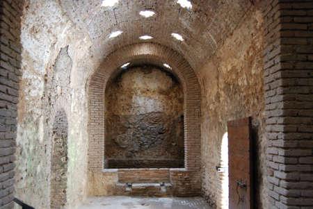 Chamber inside the Arab baths with star shaped skylights, Ronda, Malaga Province, Andalucia, Spain, Europe