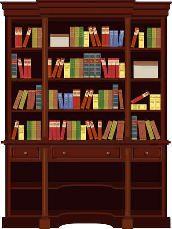 shop furniture: book cabinet vector