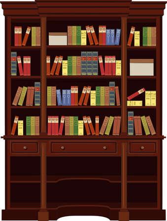 bookcase: book cabinet vector