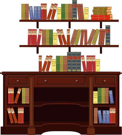 furniture shop: book cabinet vector