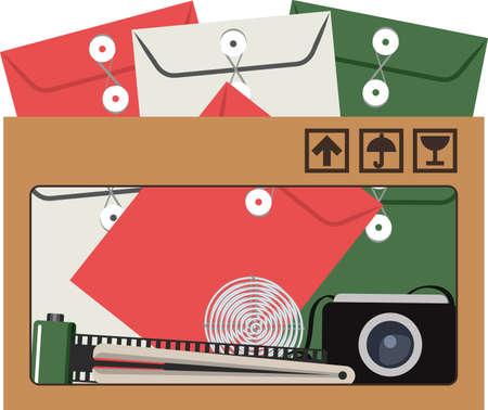 file box: tool box office vector
