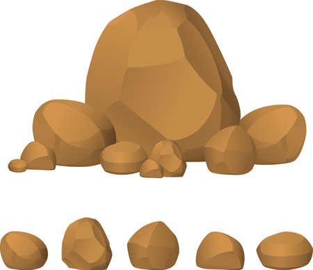 pierre set vecteur